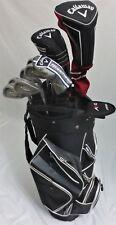 Mens RH Callaway Complete Golf Set Driver Wood Hybrid Irons Putter Clubs Bag Reg