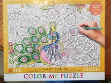 Color-Me PUZZLE~Majestic Feathers~Peacock~300 pieces~NEW in box