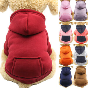 Pet Winter Hoodie Jumper Jacket Coat Dog Cat Clothes Puppy Cute Mini Sweatshirts