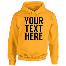 Unisex Personalised Message Hoodie - Custom Your Text Printed - Ladies & Mens