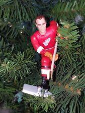 gordie HOWE detroit RED WINGS hockey NHL xmas TREE ornament HOLIDAY red JERSEY