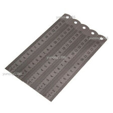 "5pcs 15cm 6""Stainless Steel Double Side Drafting Measuring Straight Edge Ruler U"