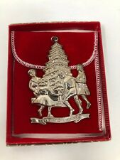 Gorham 1978 Children Round the Tree Sterling Silver Christmas Ornament