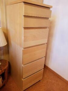 IKEA Malm Kommode mit 5 Schubladen Birke Möbel
