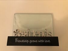 Silver Friends Glass Picture Frame With Black Base
