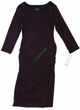 New Women's Maternity Clothes Shirt Dress Red Navy NWT Liz Lange Size XXL