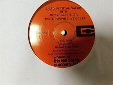 1972 CHEVROLET EL CAMINO BLAZER SUBURBAN CHEYENNE LEAD IN VALUE PROMO RECORD