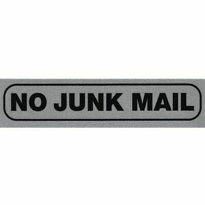 Top Quality Creative Instructional Self Adhesive 'No Junk Mail' Information Sign