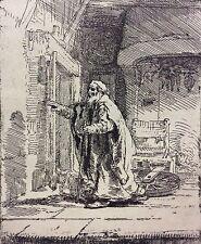 Rembrandt van Rijn Tobie aveugle héliogravure Circa 1850