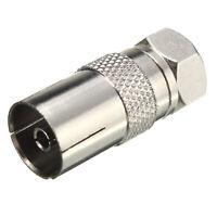 3X RF Female Socket to F Type Screw Male Plug Adapter Converter Coax TV Ariel BG