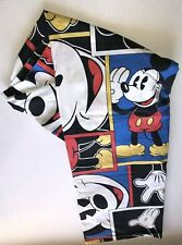 Disney Collection Mickey Mouse Vintage Blue Flat Sheet And Standard Pillowcase