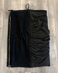Womens Dolce and Gabbana Black Side Zip Skirt Size 42