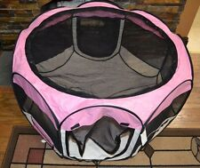 """Dog Kitten Cat Pet Puppy Kennel Exercise Pen Playpen Soft Crate With Case 36"""" D"""