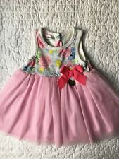 Juicy Couture Girl Baby Dress Tutu Floral Spring Summer Size 6/9M EUC