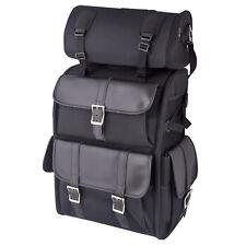 Motorcycle Bike Sissy Bar Backpack 55 Litre Travel Bag T-Roll Cordura Leather