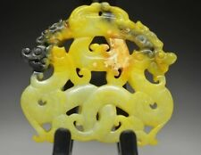 Exquisite Chinese Old Jade hand-carved *Dragon* Lucky Pendant   a03