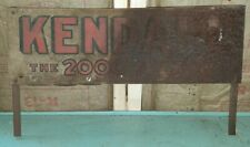 Kendall 2000 Mile Oil Original Metal Early Oil Gas Station Antique Advertising