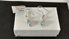 Blue Chalcedony 925 Sterling Silver Dangling Earrings
