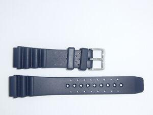 Bonetto Cinturini (Italy) Rubber Watch Band Strap 20 mm , Dark Blue, Model 285