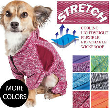 Pet Life 'Downward Dog' Quick-Dry and 4-Way Stretch Dog Yoga Hooded Tracksuit