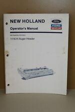 New Holland Operators Manual 1116-H Auger Header #43111610 1993