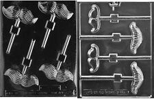 MUSTACH LOLLY CHCOLATE CANDY MOLD- set of 2