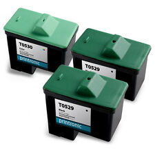 3 Pack Dell Series 1 Ink Cartridge T0529 T0530 for A920 720 Inkjet Printers