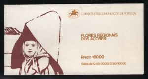 Portugal-Azores 1983 Flowers booklet Sc# 341a NH
