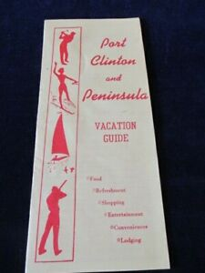 Vintage Port Clinton and Peninsula Ohio Travel Brochure B16