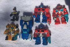 "Transformers Rescue Bots Playskool Heroes 6pcs Lot 2.5"" Figures Hasbro Racecar"