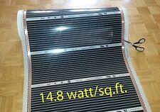 "Infrared floor heating film 26 sq.ft, 220V, width 31 1/2"", 14.8w/sq.ft"