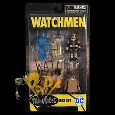 WATCHMEN Minimates BOX SET Dr Manhatten RORSCHACH Nite Owl COMEDIAN In Stock!