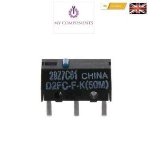 2 x OMRON D2FC-F-K(50m) D2FC-F-K  Blue Dot Mouse Micro Switch
