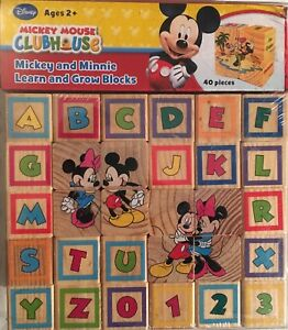 CLUBHOUSE MICKEY AND MINNIE LEARN AND GROW BLOCKS BY DISNEY, NEW!