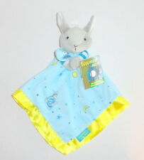 New Goodnight Moon Bedtime Bunny Baby Security Blanket Blue Yellow NWT P14