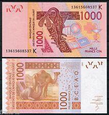 WEST AFRICAN STATES SENEGAL K 1000 francs 2003 2013  Pick new    SC /  UNC