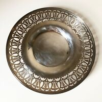 Vintage Middletown Conn Silver Co USA Cornwall Silver Plated Tray Reticulated