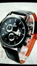 Casual Army Brand Fashion Men'S Military Quartz Watch Luxury Black Leather Strap