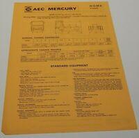 British Leyland Trucks AEC Mercury Truck Advertising Specification leaflet 1970