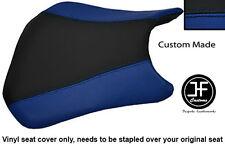 BLACK & R BLUE VINYL CUSTOM FITS HONDA CBR 600 RR RR5 RR6 05-06 FRONT SEAT COVER