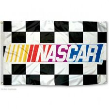 NASCAR CHECKERED FLAG 3'X5' NASCAR RACING BANNER: FREE SHIPPING