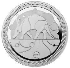 Silver Aardvark Proof 2019 Evolution Ii the Aardvark Silver Coin 1 Oz W/Coa
