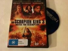 'THE SCORPION KING 3' 2012 Region 2,4 DVD - Battle For Redemption - Billy Zane