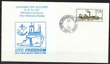 United States 1989 FDC cover Steam boat Experiment Canaveral Port