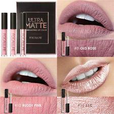 FOCALLURE 3pcs Ultra Matte & Metallic Long Lasting Lip Gloss Lipstick Makeup Hot