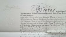 King George V & John Simon Signed Autograph Commission Appointment Document 1932