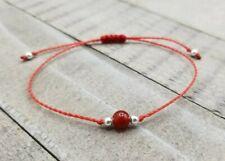 Carnelian string bracelet minimalist chakra jewelry yoga style bracelet