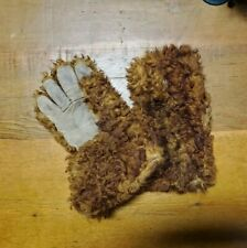 Antique 1800s Buffalo Hide Plainsman Gloves. Montana, Mountain outerwear.