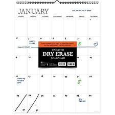 Undated 22 X 17 Dry Erase Large Wire O Hanging Vertical Wall Calendar