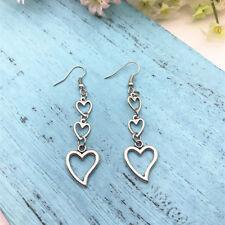 Heart Earrings Boho Earrings Love Earrings , Romantic Gift , Girlfriend Gift